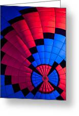 Red And Blue Pattern Greeting Card