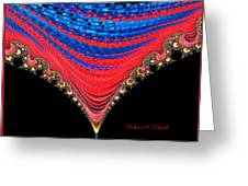 Red And Blue Shawl  Greeting Card