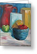 Red And Blue Still Life 2013 Greeting Card