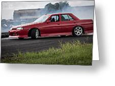 Red And Drift Hard Greeting Card