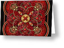 Red And Gold Celtic Cross Greeting Card
