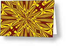 Red And Gold Christmas Kaleidescope Greeting Card