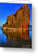 Red And Gold In The Sea Greeting Card
