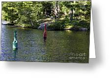 Red And Green Buoys Greeting Card