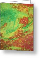 Red And Green Mystery Greeting Card