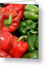 Red And Green Peppers I Phone Case Greeting Card