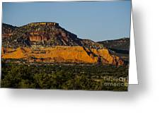 Red And Green Plateau New Mexico Greeting Card