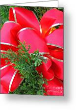 Red And Greens Greeting Card