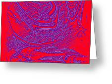 Red And Purple Greeting Card