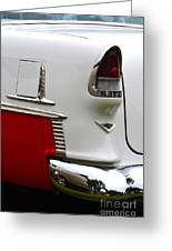 Red And White 1955 Chevy Greeting Card