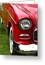 Red And White 50's Chevy Greeting Card