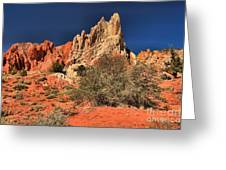 Red And White Desert Towers Greeting Card