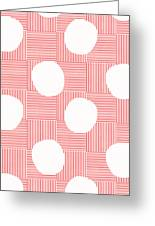 Red And White Poof  Greeting Card