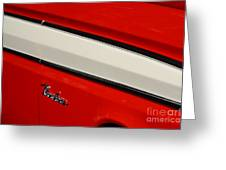 Red And White Ranchero Greeting Card