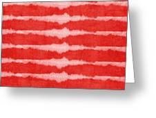 Red And White Shibori Design Greeting Card
