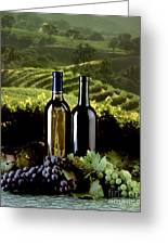 Red And White Wines Greeting Card by Craig Lovell