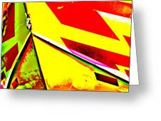 Red And Yellow Bow Greeting Card