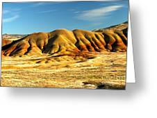 Red And Yellow Painted Hills Greeting Card