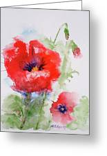 Red Anemones Greeting Card