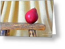 Red Anjou Pear Greeting Card