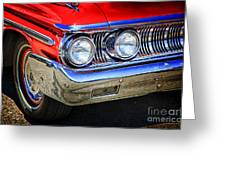Red Antique Car Greeting Card