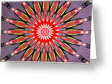 Red Arrow Abstract Greeting Card