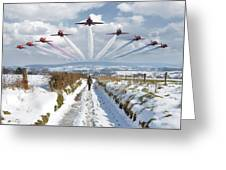 Red Arrows Over Epen Greeting Card