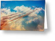 Red Arrows Smoke The Skies Greeting Card