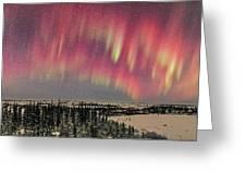 Red Aurora Panorama 1 Feb 12, 2016 Greeting Card