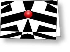 Red Ball 12a H Panoramic Greeting Card