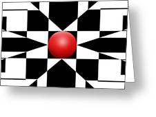Red Ball 1 Panoramic Greeting Card