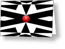 Red Ball 25a Panoramic Greeting Card