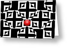 Red Ball 5 Greeting Card