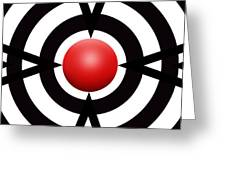 Red Ball 6 Panoramic Greeting Card