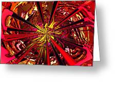 Red Ball 9 Enter The Sun Greeting Card