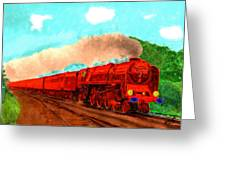 Red Ball Express Greeting Card