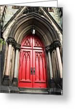 Red Baltimore Door Greeting Card