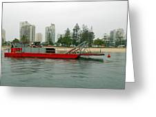 Red Barge Greeting Card