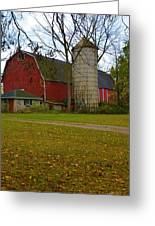 Red Barn And Silo#2 Greeting Card