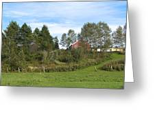 Red Barn Greeting Card by Blind Eye Photo