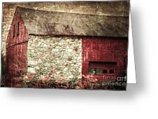 Red Barn Enhanced Greeting Card