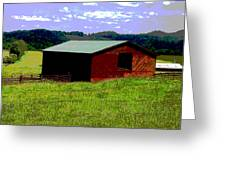 Red Barn Farm Greeting Card