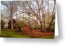 Red Barn In The Smokies Greeting Card