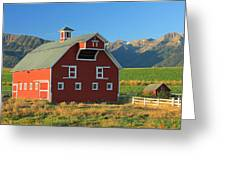 Dn5939-red Barn In The Wallowas Greeting Card