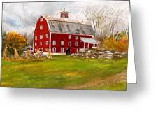 Red Barn In Woodstock Vermont- Red Barn Art Greeting Card