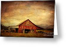 Red Barn  Greeting Card by Joan McCool