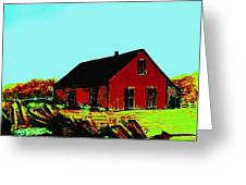 Red Barn   Number 5 Greeting Card