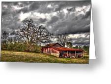 Red Barn On The Boswell Farm Greeting Card