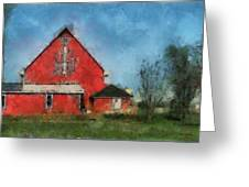 Red Barn Rear View Photo Art 03 Greeting Card