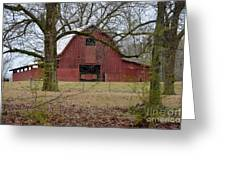 Red Barn Series Picture A Greeting Card